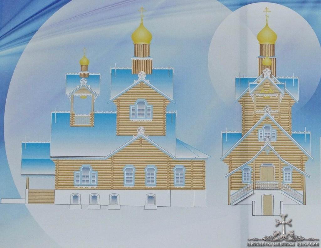 проект строящегося храма Скита